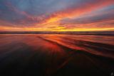 california, beach, solana beach, tide, sunset, sky, tide
