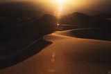 california, death valley, sand, dunes, sun, glow