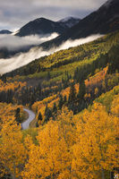 Marble, Colorado, aspen, autumn, fall, sunrise, clouds
