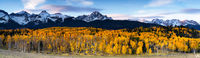 Colorado, aspen, autumn, Sneffels, forest, mountains, San Juan Mountains, panoramic