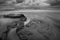clouds, winter, storm, rock, sea, Swamis, Encinitas