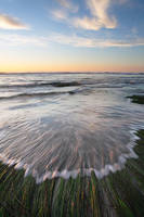 sea, grass, ocean, tide, sunset, California