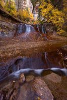 Zion, Utah, waterfall, Subway, autumn, creek, stream