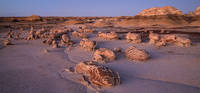 Bisti, egg factory, New Mexico, badlands, sunset, dusk, rocks