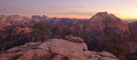 Utah, Zion National Park, backcountry, sunset, peaks