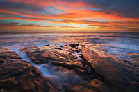 California, La Jolla, sunset, sea, sky, coast