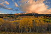 Colorado, aspen, moonrise, sunset, wilson peak, woods lake, el diente, san juan mountain,