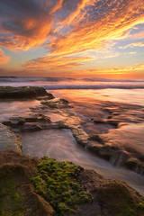 California, Encinitas, San Diego, coast, sunset