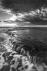 California, Encinitas, Swamis, San Diego, sunset, coast, low tide