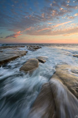California, La Jolla, San Diego, sea, coast, sunset, tide