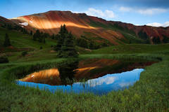 Red Mountain, Colorado, Grey Copper Gulch, summer, sunrise
