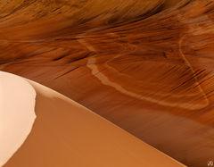 Utah, Arizona, Wave, alcove, sand dune, sandstone, Vermillion Cliffs
