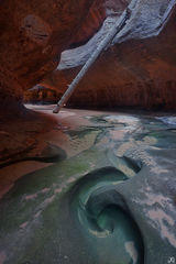 Utah, Zion National Park, subway, swirl, creek, flash floods, backcountry