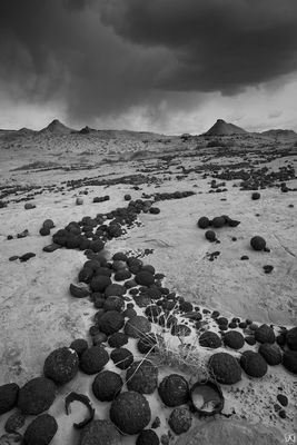 Storm Above the Moqui Marbles