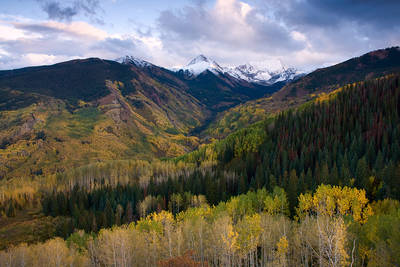 Colorado, Capitol Peak, Mount Daly, autumn, Capitol Creek, aspen