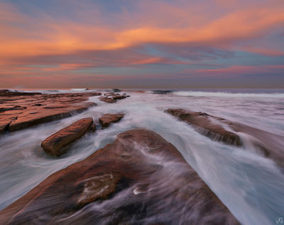 California, La Jolla, surf, coast, morning