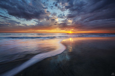 california, encinitas, surfers, sunset, beach, sand, surf