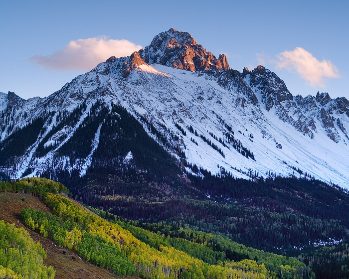 San Juan Mountains, Sneffels, fall, aspen, autumn, Colorado, photo