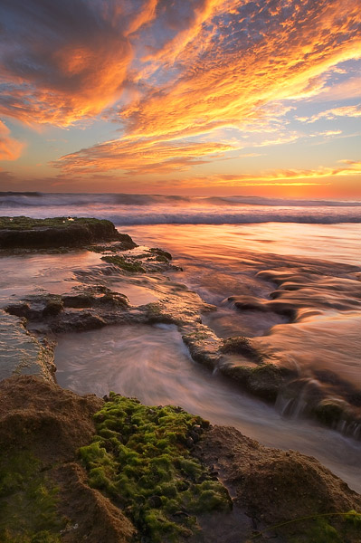 California, Encinitas, San Diego, coast, sunset, photo