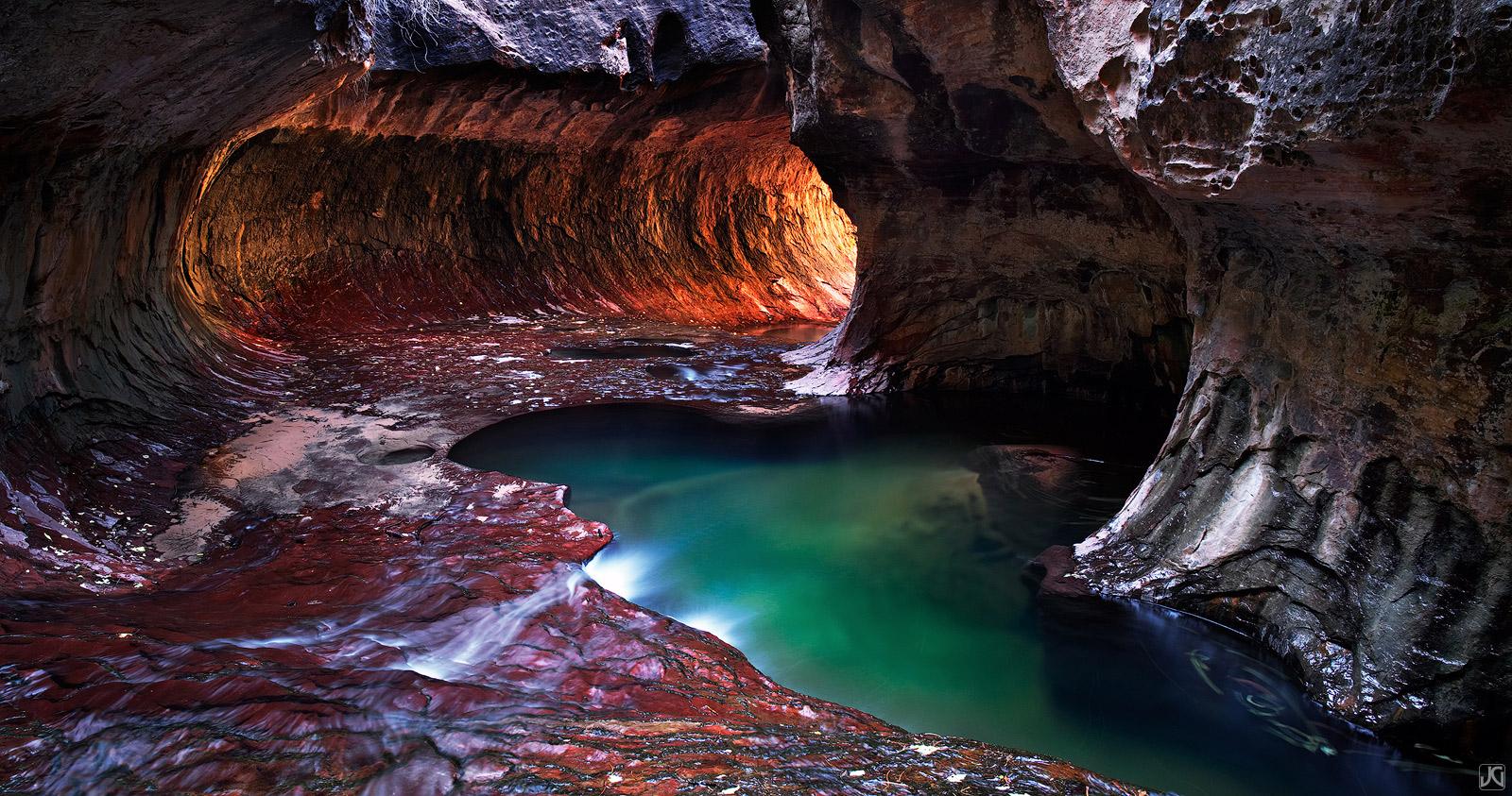 Utah, Zion National Park, subway, creek, pools,backcountry, photo