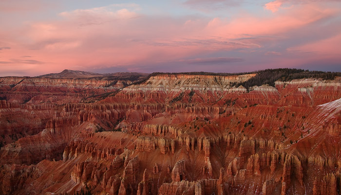 hoodoo, sunset, clouds, canyon, Utah, Cedar Breaks, photo