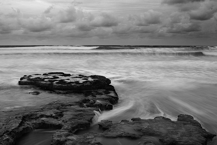 clouds, winter, storm, rock, sea, Swamis, Encinitas, photo