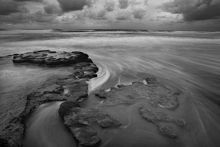 clouds, winter, storm, rock, sea, Swamis, Encinitas, photo