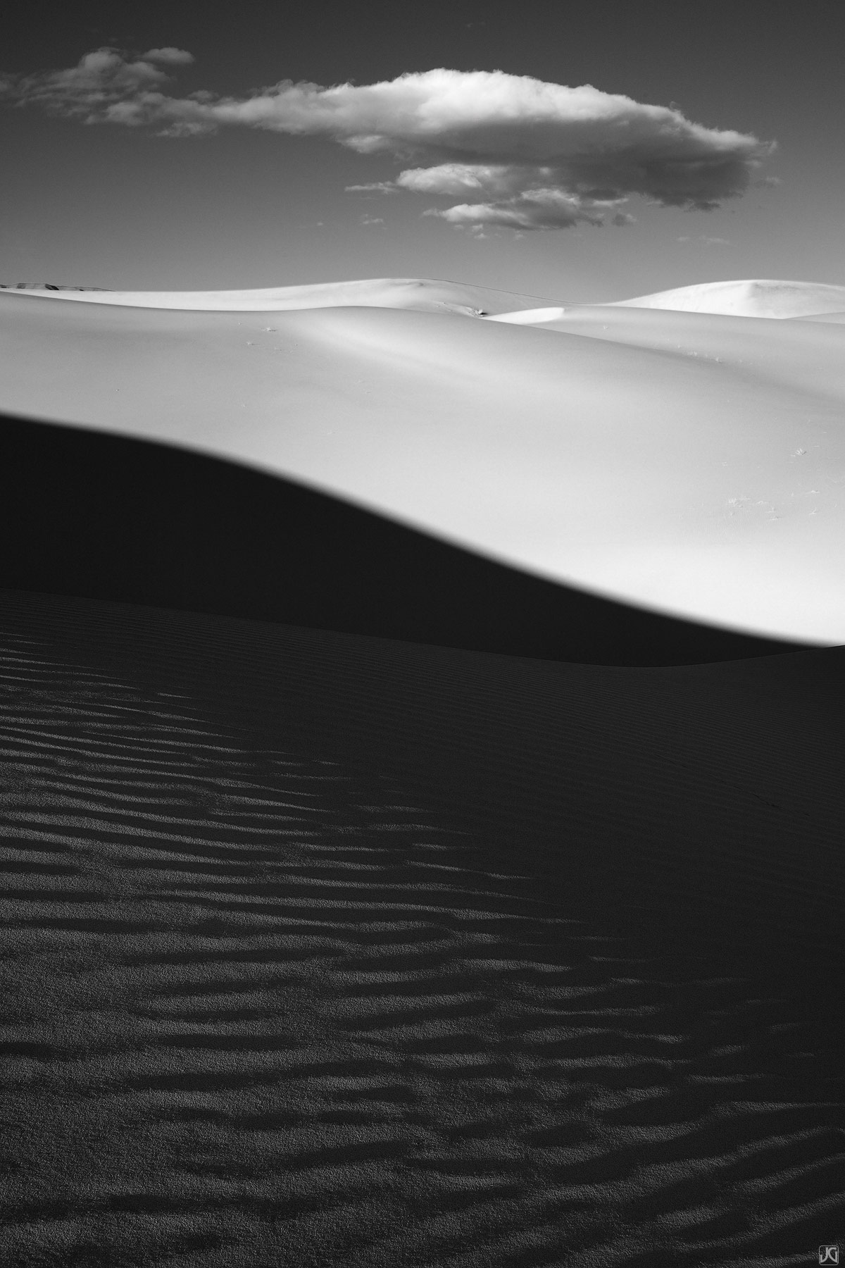 sand, dune, cloud, Death Valley, photo