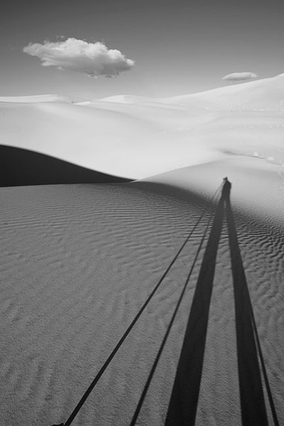 shadow, sand, dune, Death Valley, photo