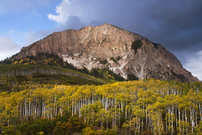 fall, autumn, Marcelina, mountain, colorado, aspen, clouds, photo