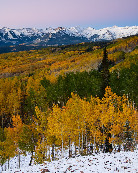Colorado, snow, autumn, Castles, Ohio Pass, Elk Mountains, , photo