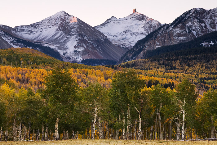 Telluride, Lizard Head, sunrise, autumn, aspen, fall, mountain, photo