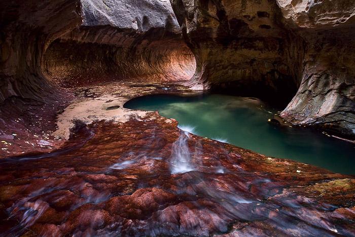 Subway, Zion, waterfall, stream, creek, Utah, photo