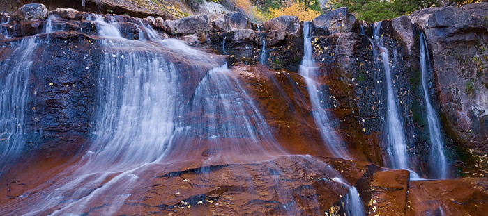 Zion, Utah, waterfall, Subway, autumn, creek, stream, photo