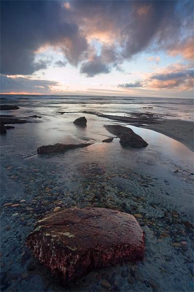 rock, sky, cloud, sunset, sea, ocean, photo