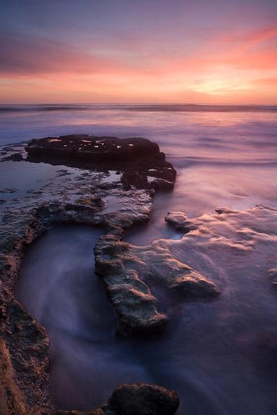 sunset, ocean, flow, beach, photo