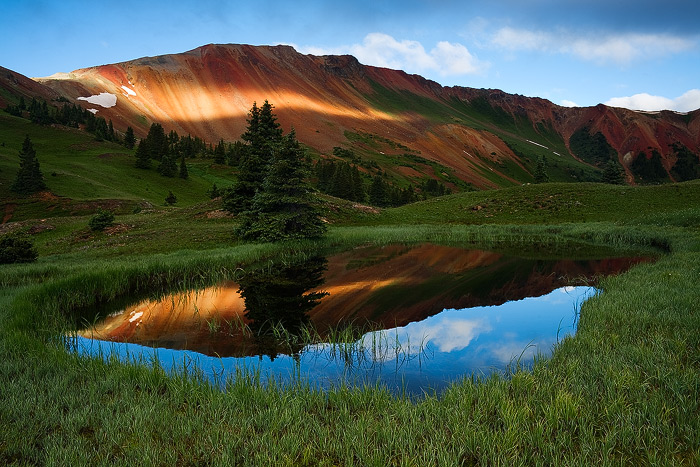 Red Mountain, Colorado, Grey Copper Gulch, summer, sunrise, photo