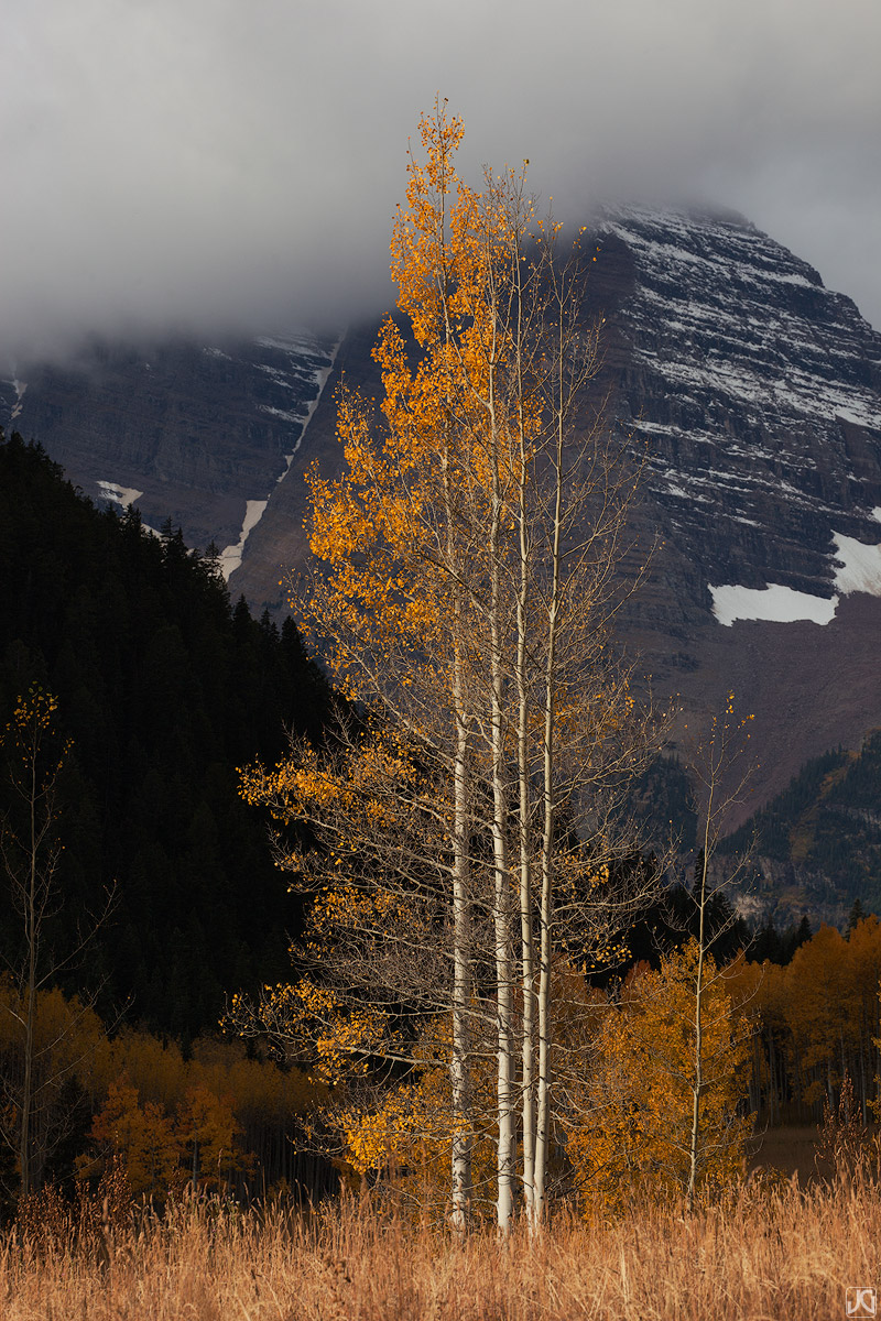 Colorado, Maroon Bells, aspen, autumn, photo