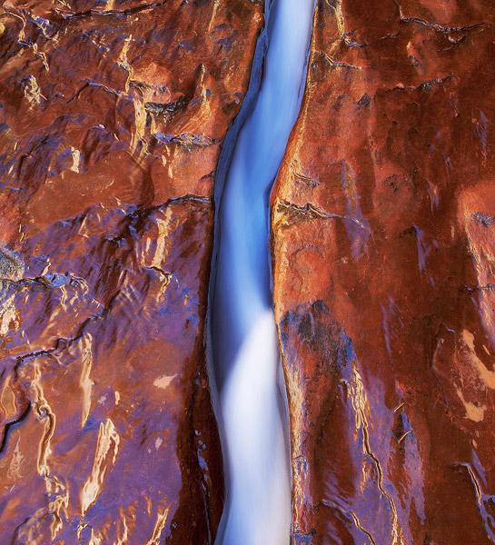 Utah, Zion National Park, subway, crack, sandstone, creek, backcountry, photo