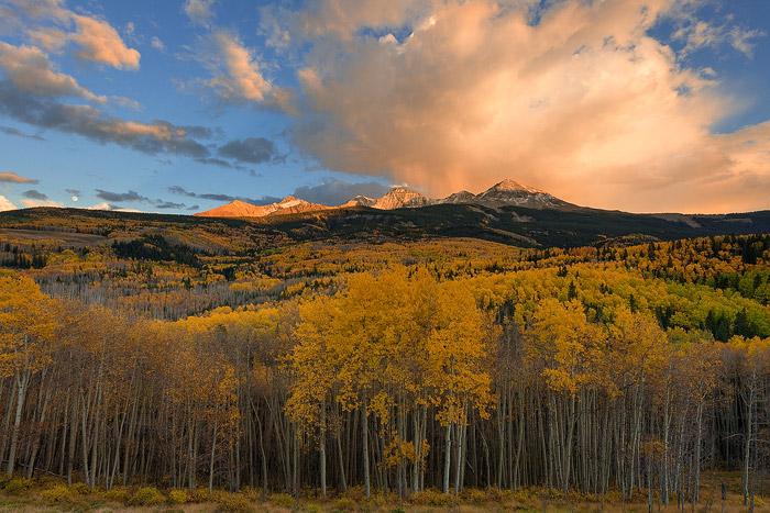 Colorado, aspen, moonrise, sunset, wilson peak, woods lake, el diente, san juan mountain,, photo