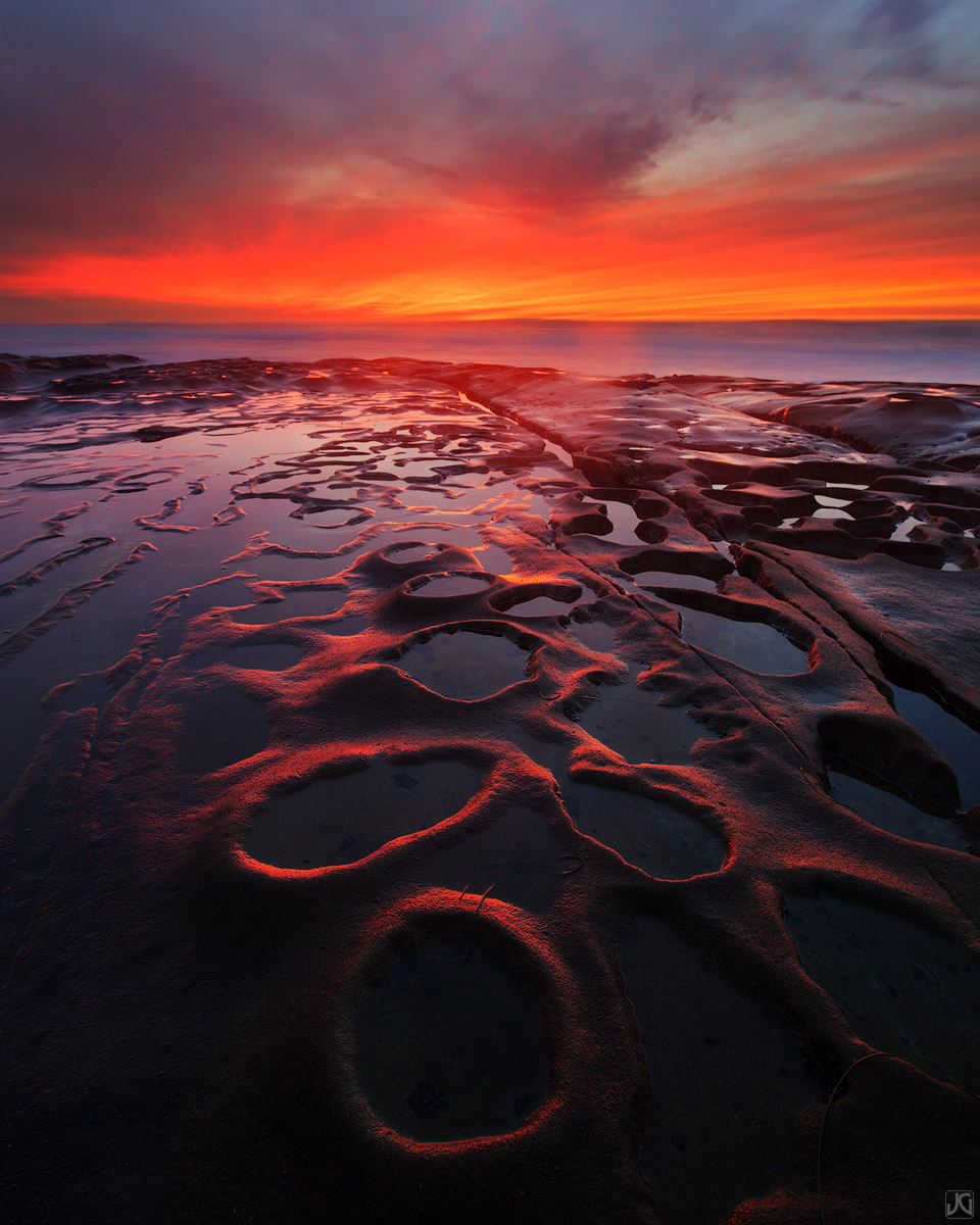 California, ocean, coast, La Jolla, sunset, San Diego, photo