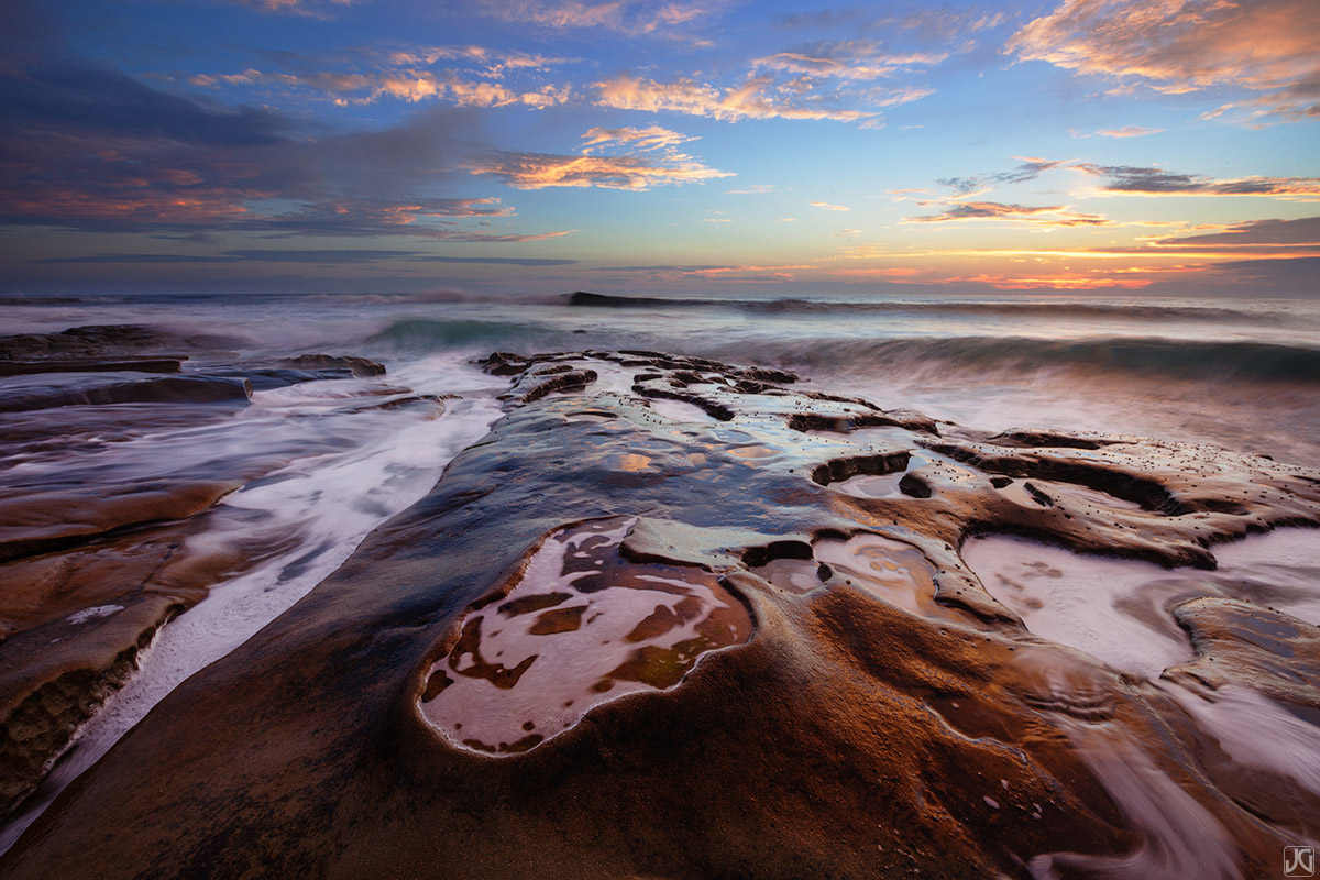 California, La Jolla, San Diego, ocean, sunset, sea, beach, photo