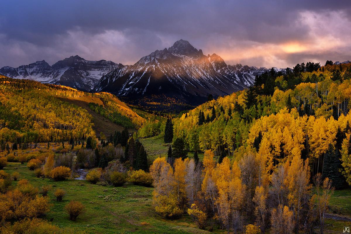 aspen, colorado, sneffles, fall, valley, forest, photo