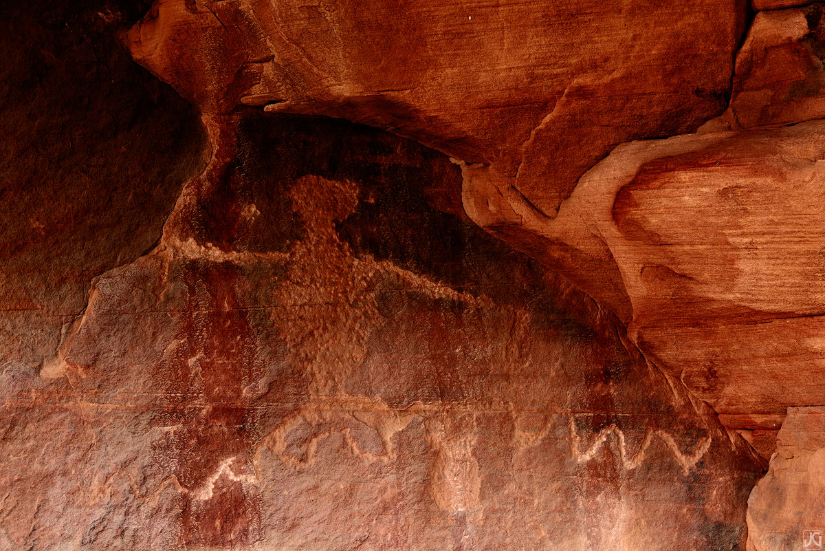 Utah, Zion, ancient, petroglyph, photo