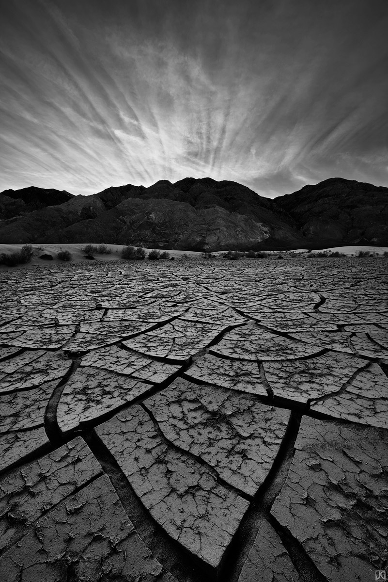 death valley, sunset, cracks, tiles, textures, sand dunes, photo