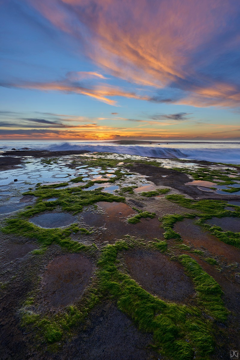 California, ocean, coast, La Jolla, sunset, San Diego, photo