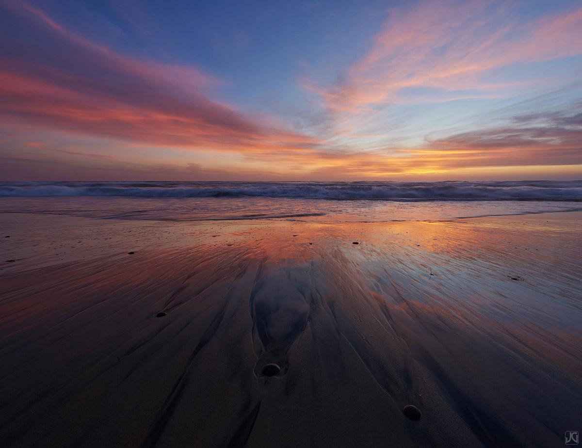California, sand, sunset, Del Mar, coast, beac, tide, photo
