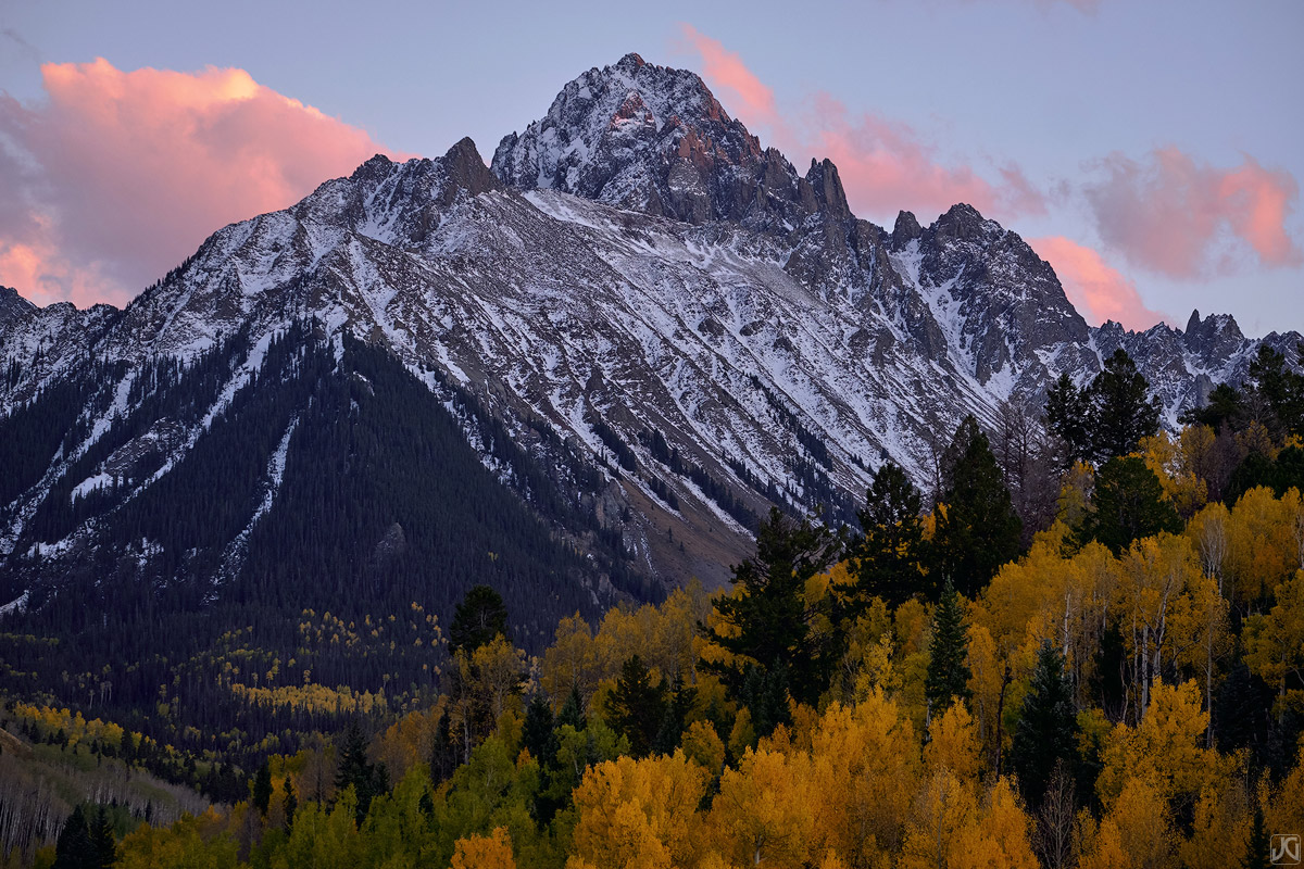 colorado, fall, aspen, valley, sneffels, trees, photo