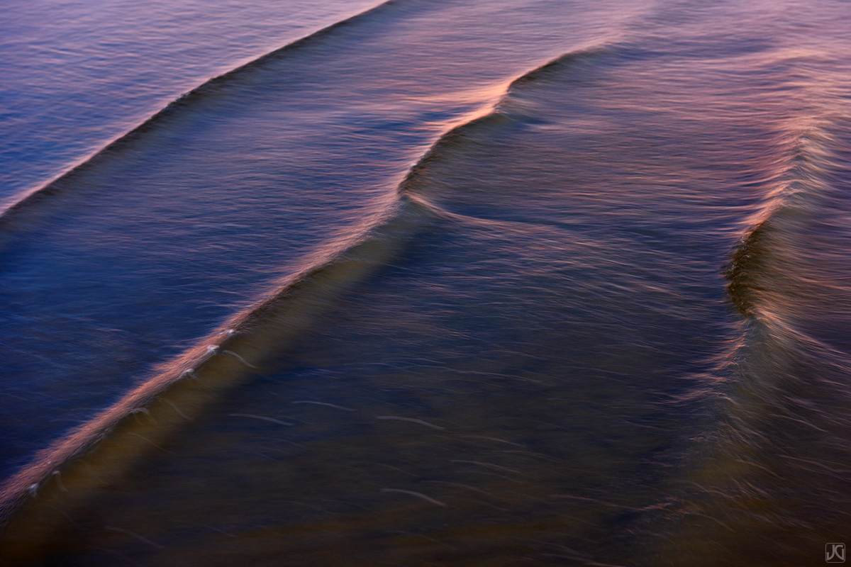 California, beach, waves, sunset, solana beach, shallow, hues, coast, photo