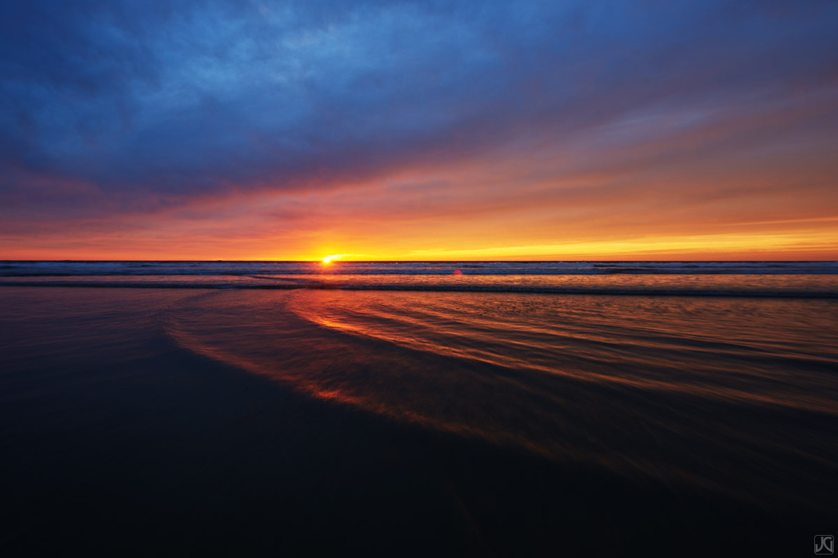 california, solana beach, beach, tide, sunset, photo